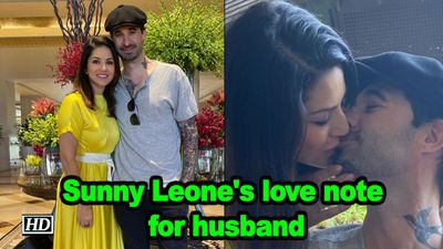 Sunny leones love note for husband