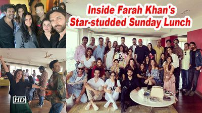 Inside farah khans starstudded sunday lunch karan johar kartik aaryan attend