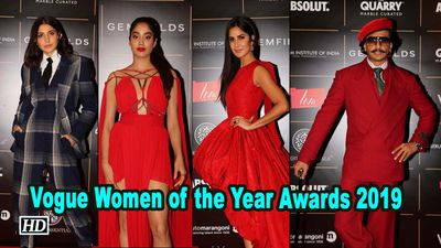 Vogue women of the year awards katrina kaif anushka sharma dazzle on red carpet