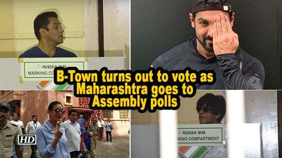 B town turns out to vote as maharashtra goes to assembly polls
