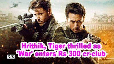 Hrithik tiger thrilled as war enters rs 300 cr club