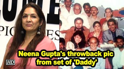 Neena guptas throw back pic from set of daddy