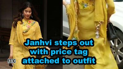 Janhvi Kapoor steps out with price tag attached to outfit