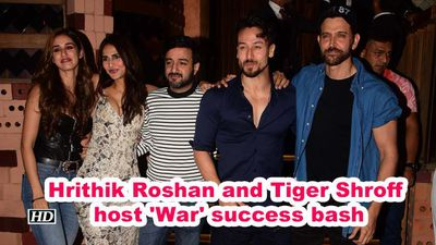 Hrithik roshan and tiger shroff host war success bash