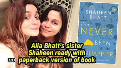 Alia bhatts sister shaheen ready with paperback version of book
