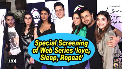 Special screening of web series love sleep repeat