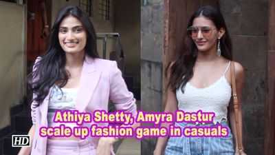 Amyra Dastur, Athiya Shetty scale up fashion game in casuals