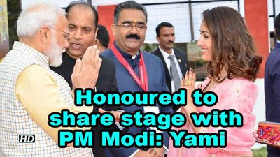 Honoured to share stage with PM Modi: Yami Gautam