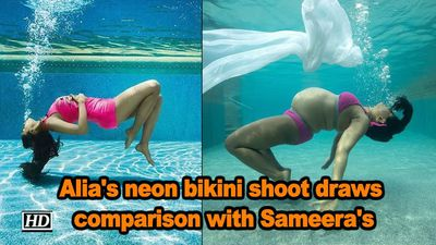 Alia's neon bikini shoot draws comparison with Sameera's