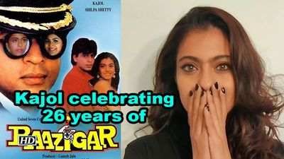 Kajol celebrating 26 years of baazigar