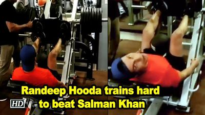 Randeep hooda trains hard to beat most wanted bhai salman khan
