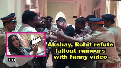 Akshay kumar rohit shetty refute fallout rumours with funny video
