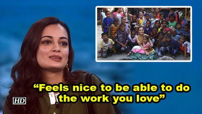 Dia mirza feels nice to be able to do the work you love