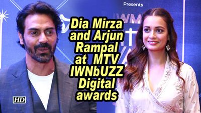 Dia mirza and arjun rampal at mtv iwnbuzz digital awards
