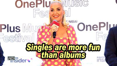 Singles are more fun than albums katy perry