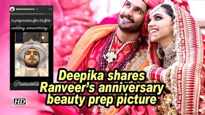 Deepika gives sneak peek to ranveer preps ahead of first wedding anniversary