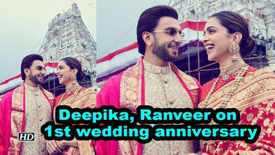 Deepika ranveer seek lord venkateswaras blessings on 1st anniversary