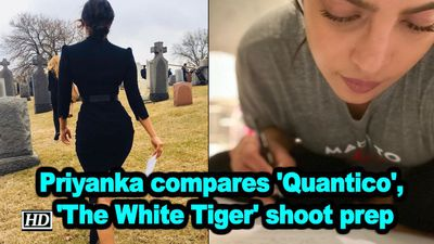 Priyanka compares quantico the white tiger shoot prep