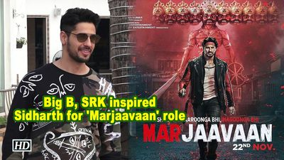 Big b srk inspired sidharth for marjaavaan role
