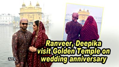 Ranveer, Deepika visit Golden Temple on wedding anniversary