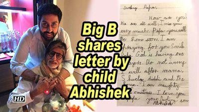 Big B shares letter by child Abhishek