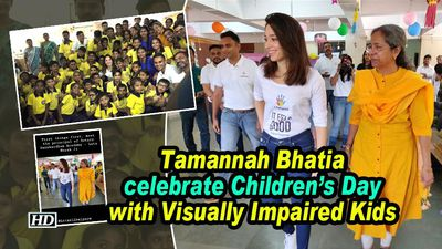 Tamannah Bhatia celebtare Children's Day with Visually Impaired Kids