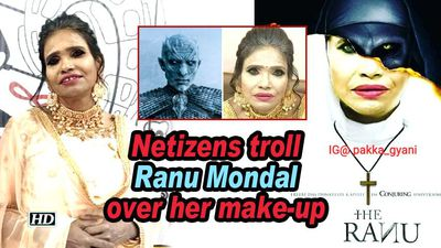 Netizens troll Ranu Mondal over her make-up