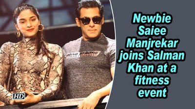 Newbie Saiee Manjrekar joins Salman Khan at a fitness event