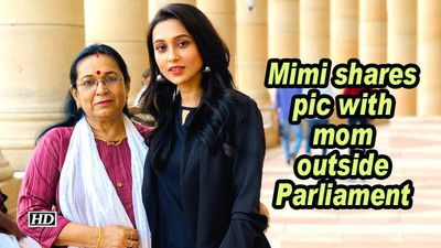 Mimi shares pic with mom outside Parliament