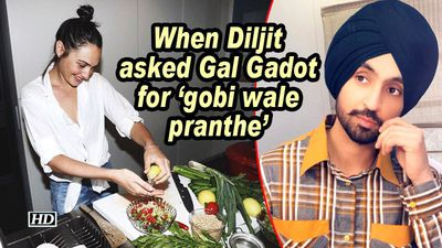When Diljit asked Gal Gadot for 'gobi wale pranthe'