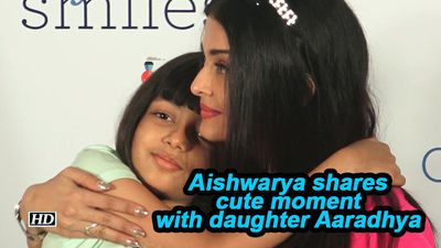 Aishwarya shares cute moment with daughter Aaradhya