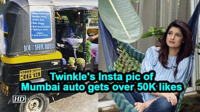Twinkle's Insta pic of Mumbai auto gets over 50K likes