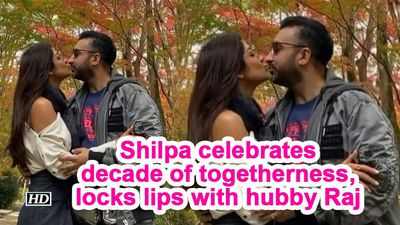 Shilpa celebrates decade of togetherness, locks lips with hubby Raj