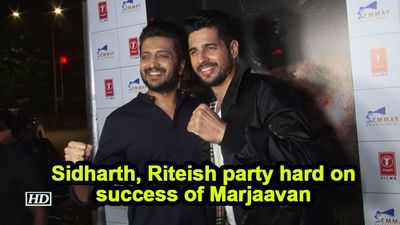 Sidharth, Riteish party hard on success of Marjaavan