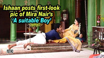 Ishaan posts firstlook pic of mira nairs a suitable boy