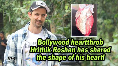 Bollywood heartthrob hrithik roshan has shared the shape of his heart