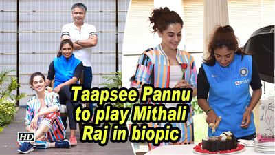 Taapsee pannu to play mithali raj in biopic