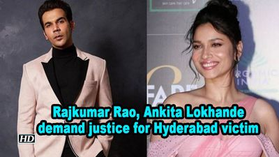 Rajkumar rao ankita lokhande demand justice for hyderabad victim