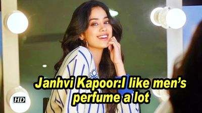 Janhvi kapoor i like mens perfume a lot