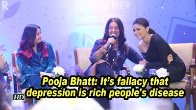 Pooja bhatt its fallacy that depression is rich peoples disease