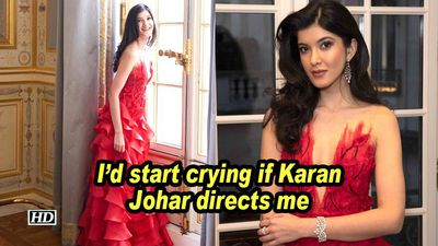 Shanaya kapoor id start crying if karan johar directs me