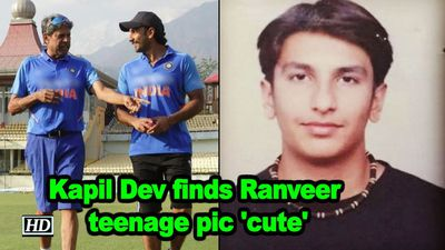 Kapil dev finds ranveer singhs teenage pic cute