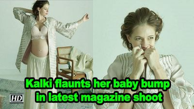 Kalki flaunts her baby bump in latest magazine shoot