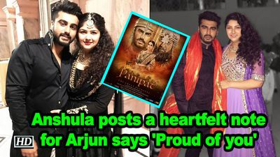 Anshula kapoor posts a heartfelt note for arjun kapoor says proud of you