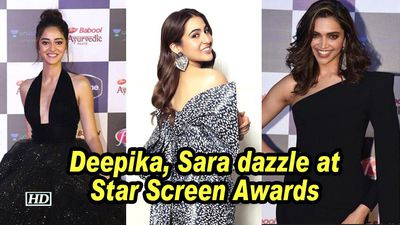 Deepika sara dazzle at star screen awards