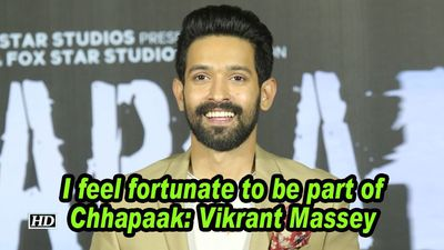 I feel fortunate to be part of chhapaak vikrant massey
