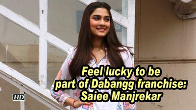 Feel lucky to be part of dabangg franchise saiee manjrekar