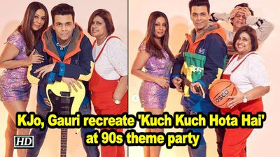 Kjo gauri khan recreate kuch kuch hota hai at 90s theme party