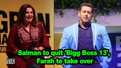 Salman to quit bigg boss 13 farah khan to take over