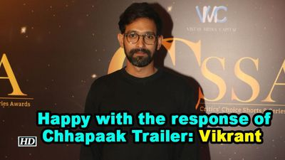 Happy with the response of chhapaak trailer vikrant